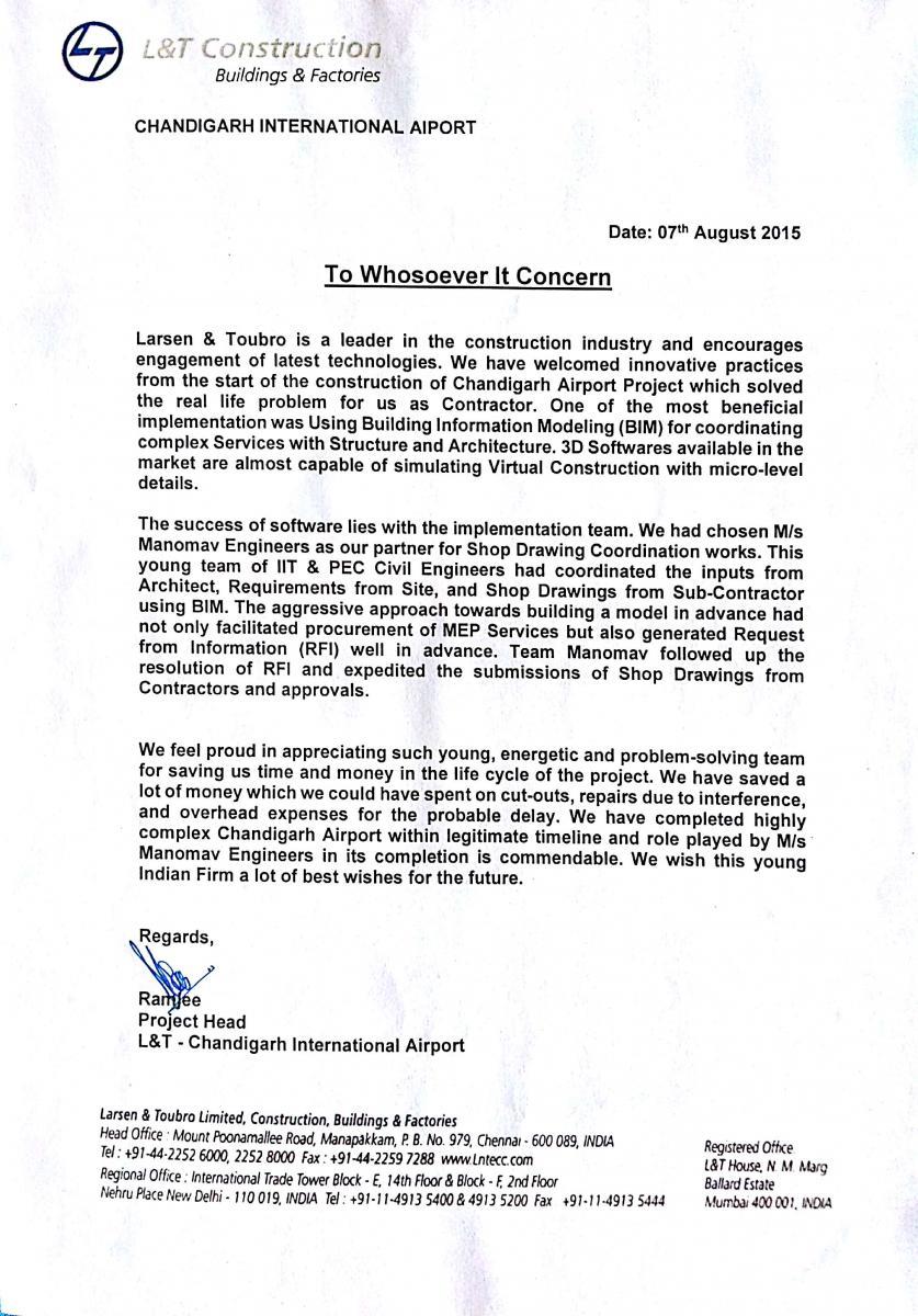 Chandigarh International Airport Project