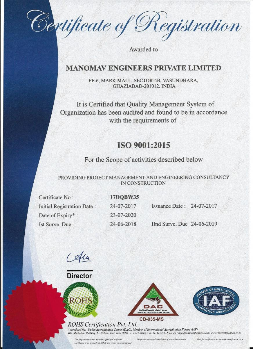 ISO 9001:2015 from DAC-IAF